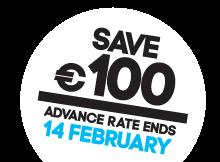 Save 100 EUR white